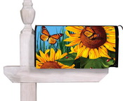Sunflower-Butterfly-Mailbox